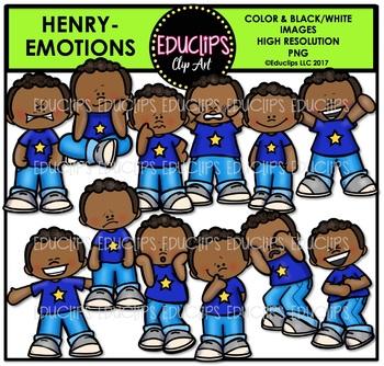 Emotions - Henry Clip Art Bundle {Educlips Clipart}