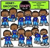 Emotions - Henry Clip Art Set {Educlips Clipart}
