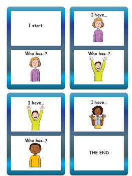 Emotions I have… Who has..? Vocabulary Card Game- English Emotions Vocabulary