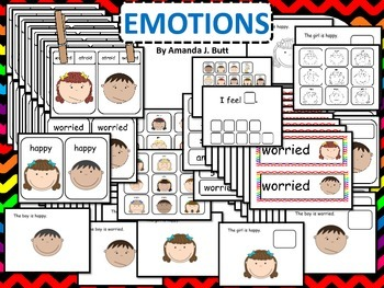 Emotions; Interactive Reader; Word Wall; Game; Pre-K; Auti