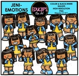 Emotions - Jeni Clip Art Bundle {Educlips Clipart}