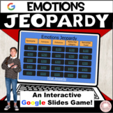 Emotions Jeopardy:  Interactive, No Print Google Slides Game