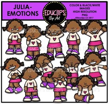 Emotions - Julia Clip Art Bundle {Educlips Clipart}