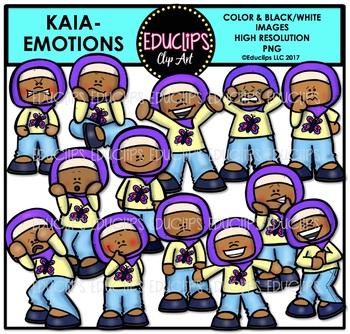Emotions - Kaia Clip Art Bundle {Educlips Clipart}