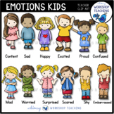 Emotions Kids Clip Art Set