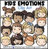 Emotions Kids Faces Clip Art