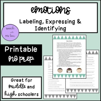 Emotions: Labeling, Expressing and Identifying