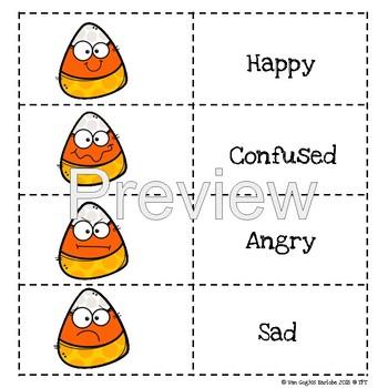 Emotions Lapbook (Candy Corn Theme) PECS