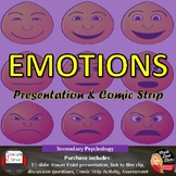 Emotions Lecture Presentation and Comic Strip Activity | Psychology