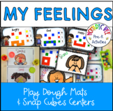 Feelings Play Dough cards and Connecter Cube activity