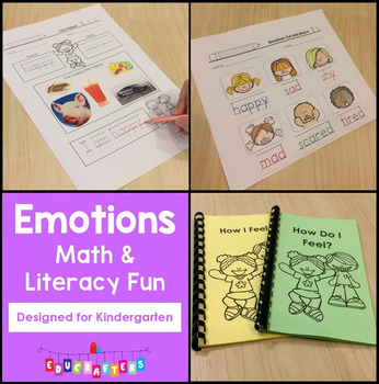 Feelings and Emotions Math and Literacy Fun - Kindergarten