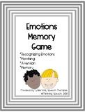 Emotions Memory Game
