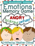 Emotions Memory Game {PK-1} Social-Emotional Development