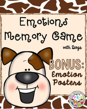 Emotions Memory Game with BONUS Emotion Posters