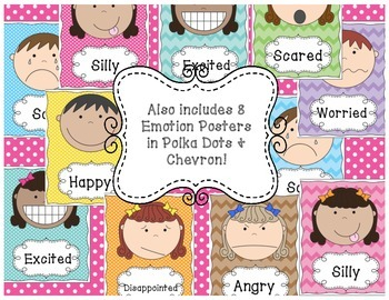 Emotions Mini-Reference Cards & Classroom Posters