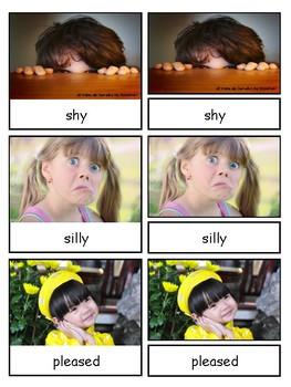 Emotions Montessori 3-part cards