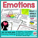 Managing Emotions Activities | Emotions Morning Meeting Theme in Literature
