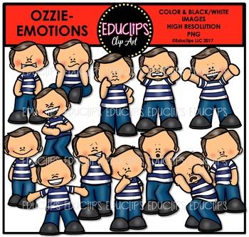 Emotions - Ozzie Clip Art Bundle {Educlips Clipart}