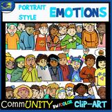 Emotions PORTRAIT STYLE CommUNITY Clip-Art Bundle-54 Pieces BW/Color