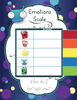 Emotions Package - Scale & Self Regulation Work Set