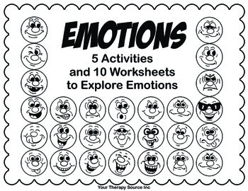 Emotions Packet - Fine Motor, Visual Motor and Self Regulation