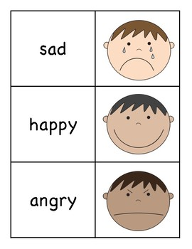 Emotions Picture/Word Match