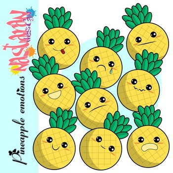 Emotions and Feelings Clip Art-Pineapple Clipart