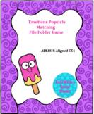 Emotions Popsicle File Folder Game (ABLLS-R Aligned)