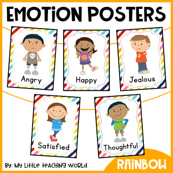 Sign Your Emotions Poster 36 Illustrations Feelings For Counselor/'s or Teacher/'s