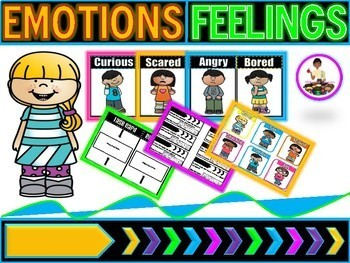 Emotions   Feelings Posters   Emotions Activities Center