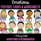 Emotions Posters, Vocabulary and Writing (in English and Spanish)