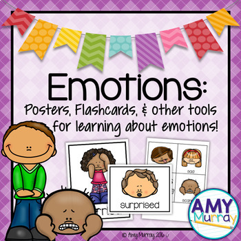 Emotions Posters and Flash Cards