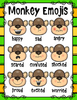Emotions Posters with Monkey Emojis