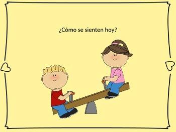 Emotions Powerpoint in Spanish/Practicar las palabras de e