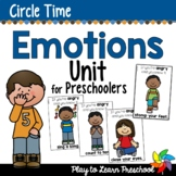 Emotions Preschool Unit
