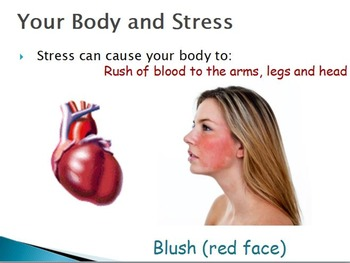 Emotions  - Reactions to Stress w/worksheet (SMART BOARD)
