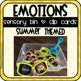 Emotions Sensory Bin + Clip Cards (Summer Themed)