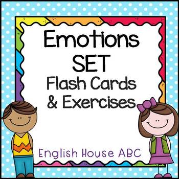 Emotions Set - Flash Cards & Exercises