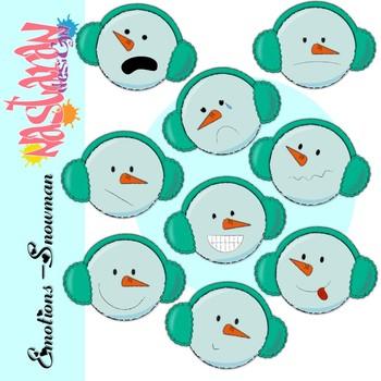 Emotions-Snowman  Clipart