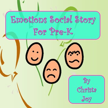 Emotions Social Story for Pre-K