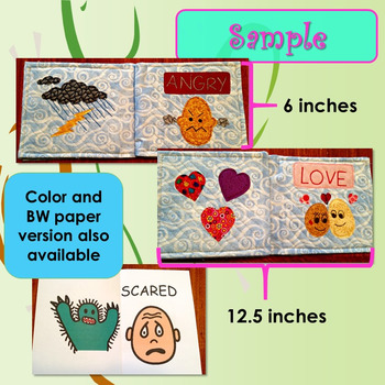 Emotions Social Story for Pre-K Quilted Soft Book