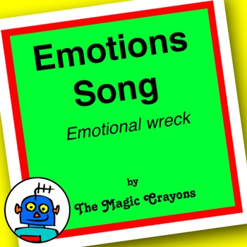 English Emotions Song 1 for ESL, EFL, Kindergarten. Happy, sad, angry, hot, cold