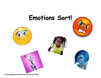 Emotions Sort (3 sorts)