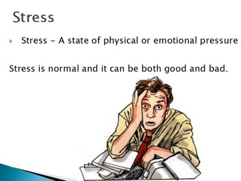 Emotions - Stress w/worksheet (POWERPOINT)