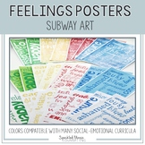 Feelings Posters: Emotions Subway Art