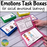 Emotions Task Boxes   Social Emotional Learning   SEL Activities