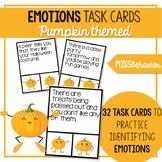 Emotions Task Cards | Social Emotional Task Cards | Pumpkin Theme