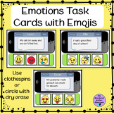 Emotions Task Cards with Emojis for Autism Special Education and Social Work