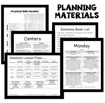 Emotions Theme Preschool Lesson Plans -Feelings Activities