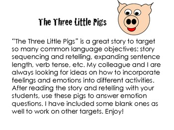 Emotions- Three Little Pigs